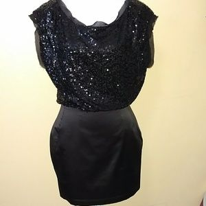 Black sequin top dress size 8